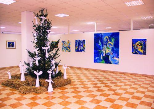 U galeriji AC Ovnak Vitez održana Božićna izložba