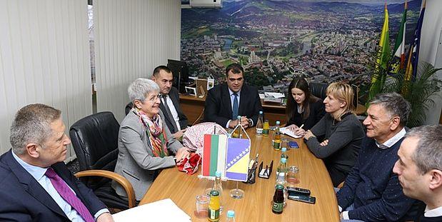 Gradonačelnik Fuad Kasumović primio ambasadoricu Republike Bugarske u Bosni i Hercegovini