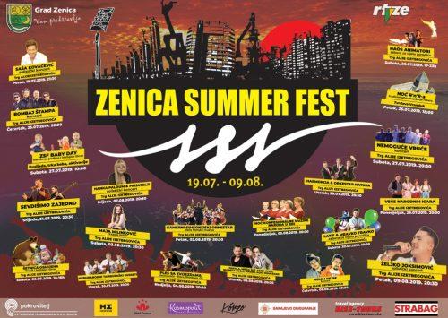 Sve je spremno za spektakl: Pogledajte raspored programa II ZENICA SUMMER FEST-a