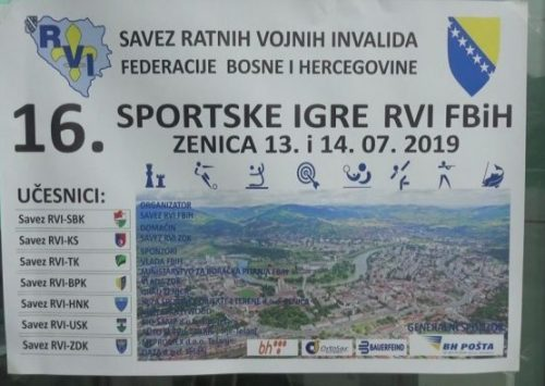 Otvorene 16. sportske igre RVI FBiH u Zenici